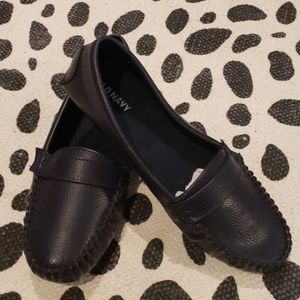 Old navy loafers,navy, womans size 6.